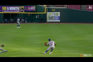 【MLB】7.29 3回裏 秋山のヒットを奪うシュワーバーのファインプレー [CHC@CIN]