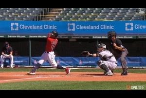 【MLB】7.29 1回裏 リンドーアの先制2ランホームラン [CWS@CLE]