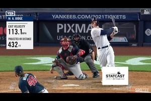 【MLB】8.12 5回裏 ジャッジのメジャー単独トップとなる9号ソロホームラン [ATL@NYY]