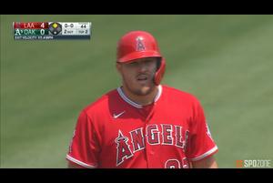 【SPOZONE MLB】エンゼルスのトラウトは3打点を挙げる活躍でチームを勝利に導いた。