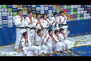 【世界柔道超速報】男女混合団体で日本が金メダル!「決勝フランス戦ダイジェスト」