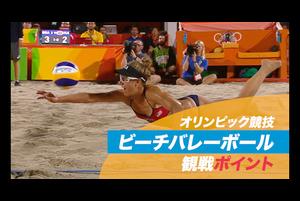 オリンピックの直近2大会で観客動員数が最も多いビーチバレーボール。広い砂地のコートを2人でカバーする、ハードかつ緻密な戦略が求められる競技の見どころを紹介。