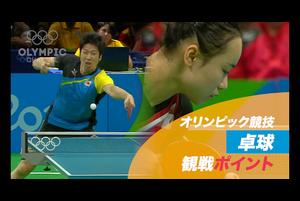 オリンピック競技 観戦ポイント 卓球