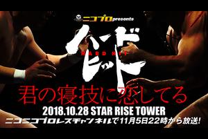 """2018年10月28日(日)に東京・STAR RISE TOWERでおこなわれたニコプロpresentsハードヒット「君の寝技に恋してる」が、2018年11月5日(月)22時よりニコニコプロレスチャンネルにて全試合完全中継されます!<br /> この大会は年に一度開催される全試合打撃禁止・寝技限定の大会となります。<br /> <br /> なお、今回の放送は主催者の意向により、大会中継は実況・解説・コメンタリーなしのプレーン放送となります。<br /> ここでは放送に先がけ、大会の模様をダイジェストでお見せします!<br /> <br /> 【年に一度の打撃禁止・寝技限定大会】ニコプロ presents ハードヒット「君の寝技に恋してる」10.28STAR RISE TOWER大会 中継!<br /> http://live.nicovideo.jp/gate/lv316599869<br /> <br /> ※チャンネル会員以外の方も無料でご視聴頂ける部分もあります。<br /> ※タイムシフト視聴はチャンネル会員の方のみご視聴頂けます。予めご了承ください。 <br /> ※「ニコニコプロレスチャンネル」会員の方は全番組ご視聴頂けます。チャンネル視聴料金 月額540円(税込)<br /> <br /> ▼第1試合 タッグマッチ 15分1本勝負<br /> クリスMAN太郎(クリス事務所)<br /> 服部健太(花鳥風月)<br /> vs<br /> 飯塚優(HEAT-UP)<br /> 井土徹也(HEAT-UP)<br /> <br /> ▼第2試合 第1回「THE IRON WRESTLER TOURNAMENT」1回戦 シングルマッチ 5分1本勝負(延長3分1R)<br /> 和田拓也(フリー)<br /> vs<br /> 桜井隆多(R-BLOOD)<br /> <br /> ▼第3試合 第1回「THE IRON WRESTLER TOURNAMENT」1回戦 シングルマッチ 5分1本勝負(延長3分1R)<br /> 松本崇寿(リバーサルジム立川ALPHA)<br /> vs<br /> ロッキー川村(パンクラスイズム横浜)<br /> <br /> ▼第4試合 シングルマッチ 10分1本勝負<br /> 関根シュレック秀樹(ボンサイ柔術)<br /> vs<br /> SUSHI(フリー)<br /> <br /> ▼第5試合 シングルマッチ 10分1本勝負<br /> 金原弘光(U.K.R.金原道場)<br /> vs<br /> 阿部諦道(浄土宗西山深草派)<br /> <br /> ▼第6試合 タッグマッチ 15分1本勝負<br /> 佐藤光留(フリー)<br /> 中村大介(夕月堂本舗)<br /> vs<br /> 鈴木秀樹(フリー)<br /> 岡田剛史(T.K.ESPERANZA)<br /> <br /> ▼セミファイナル 第1回「THE IRON WRESTLER TOURNAMENT」決勝戦 シングルマッチ 10分1本勝負<br /> 第2試合の勝者<br /> vs<br /> 第3試合の勝者<br /> ※優勝賞金10万円。<br /> <br /> ▼メインイベント シングルマッチ 15分1本勝負<br /> 藤原喜明(藤原組)<br /> vs<br /> 髙橋""""人喰い""""義生(藤原組)<br /> <br /> 【ハードヒット オフィシャルサイト】<br /> http://hardhitpro.com<br /> <br /> <br /> ※ニコニコプロレスチャンネル、通称「ニコプロ(nicopro)」はプロレス界の最新情報や、注目の大会をレスラーや関係者をスタジオにお招きして、コメンタリー付きで中継! 月額540円(税込)で全番組が見放題のプロレス動画ポータルサイトです。<br /> ---------------------------------------------------------<br /> http://ch.nicovideo.jp/nicopro<br /> ---------------------------------------------------------<br /> 【視聴ガイド】http://nicopro.jp/guide/"""
