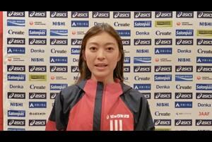 第104回日本選手権男子・女子20km競歩が、東京オリンピックの代表選考会を兼ねて、2月21日(日)、兵庫県神戸市の六甲アイランドで開催されます。<br /> <br /> 女子20km競歩でオリンピック代表に内定済みの岡田久美子選手(ビックカメラ、大会6連覇中)の大会に向けてのコメントです。<br /> <br /> 大会の模様は、<br /> ・日本陸連公式YouTubeチャンネル(https://www.youtube.com/watch?v=Ek2uMf5MFCs )<br /> ・応援TV・日本陸連公式チャンネル(https://ohen.tv/channel/)<br /> ・日本陸連公式Twitter(https://twitter.com/jaaf_official)<br /> にてライブ配信を予定しています。<br /> <br /> エントリーや配信等、大会に関する詳細は、https://www.jaaf.or.jp/competition/detail/1506/ をご参照ください。