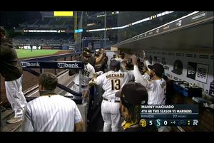 【MLB】4回表 マチャドの15号3ランホームラン 9/19 マリナーズvs.パドレス