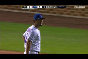 【スポーツナビMLB】4/11(日本時間)カブスの本拠地で行われているパイレーツ戦で先発登板しているダルビッシュは、6回表先頭打者をセンターフライで打ち取るも、後続に連続内野安打を許し、一死一、三塁で降板となった。