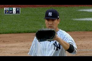 【MLB】2回表 田中将大 一死二、三塁から犠牲フライで1失点 5/8 ヤンキースvs.マリナーズ