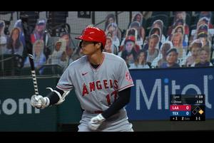 【MLB】大谷翔平の第1打席はセンター前ヒット 8/10 レンジャーズvs.エンゼルス