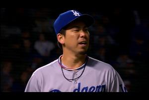 【MLB】2回裏 前田健太 一死一塁からリゾに2ランを被弾 4/24 カブスvs.ドジャース