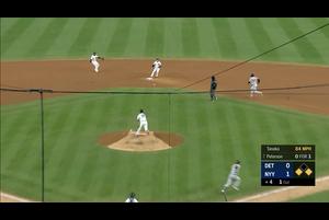 【MLB】4回表 田中将大 ノーアウト一、三塁も無失点で乗り切る! 4/3 ヤンキースvs.タイガース
