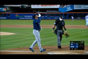 【MLB】2回表 アダメスの8号先制ソロホームラン 9/23 メッツvs.レイズ