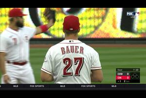 【MLB】1回表 三者三振の立ち上がりを見せるバウアー 9/20 レッズvs.ホワイトソックス