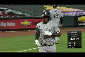 【MLB】5回表 アンダーソンの9号ソロホームラン 9/20 レッズvs.ホワイトソックス