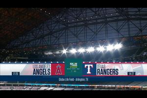 【スポーツナビMLB】レンジャーズの本拠地グローブライフ・フィールドで行われたレンジャーズvs.エンゼルスの試合ダイジェスト。