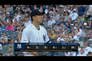 【スポーツナビMLB】6/23(日本時間)本拠地で行われたアストロズ戦で先発出場した田中将大は、6回を投げ、88球、被安打8、奪三振1、与四球1、失点2で降板した。