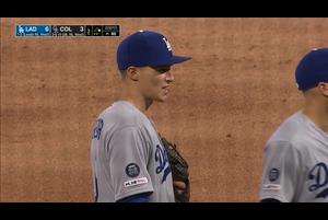 【MLB】3回裏 チェンジと勘違いで1失点 4/8 ロッキーズvs.ドジャース