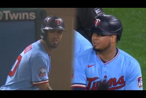 【MLB】7回裏 アラエスのタイムリー&ロサリオを犠牲フライで2点追加するツインズ 9/27 ツインズvs.レッズ
