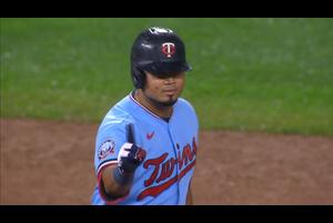 【MLB】5回裏 アラエスのタイムリーで1点追加するツインズ 9/27 ツインズvs.レッズ