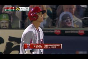 【スポーツナビMLB】9回表同点、満塁の場面で大谷翔平に打席が回るが三球三振に倒れた。