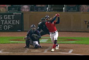 【スポーツナビMLB】<br /> 日本時間12日ツインズの本拠地で行われたインディアンス戦の2回裏、ケーブが二塁打で出塁すると続くバクストンが2ランホームランを放ちツインズが先制。