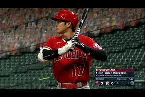 【スポーツナビMLB】エンゼルスの大谷は第3打席、一度もバット振らずに四球を選んだ。