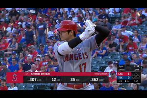 【MLB】1回表 大谷翔平 第1打席はレフト前ヒット 7/5 レンジャーズvs.エンゼルス