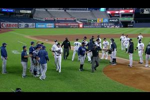 【MLB】ヤンキースvsレイズ戦最後に起こったあわや大乱闘!?シーン 9/2 ヤンキースvs.レイズ