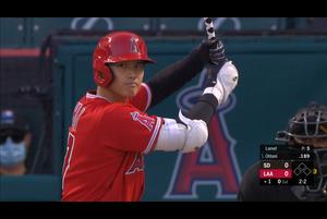 【MLB】1回裏 大谷翔平の第1打席はファーストゴロ 9/3 エンゼルスvs.パドレス