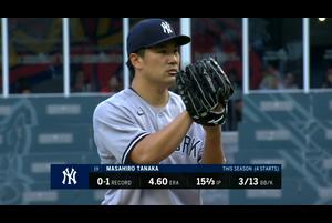 【MLB】田中将大 ダイジェスト 8/27 ブレーブスvs.ヤンキース