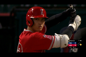 【スポーツナビMLB】<br /> 日本時間29日本拠地で行われているマリナーズ戦に2番DHで先発出場しているエンゼルスの大谷翔平は、3回裏一死一塁で迎えた第2打席はライトへの二塁打となった。