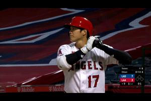 【MLB】9回裏 大谷の第4打席 レフト線へツーベースを放つ 8/15 エンゼルスvs.ドジャース