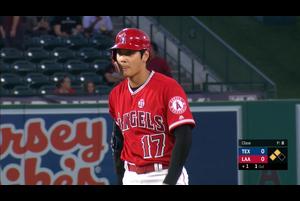 【スポーツナビMLB】8/29(日本時間)本拠地で行われているレンジャーズ戦の1回裏、3番DHで出場している大谷翔平の第1打席はセンターへ二塁打を放った。