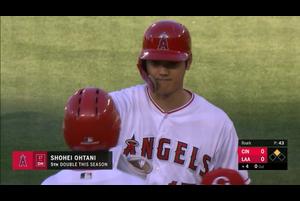 【MLB】4回裏 大谷翔平 第2打席は右中間への二塁打 6/27 エンゼルスvs.レッズ