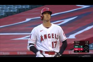 【スポーツナビMLB】エンゼルスの大谷翔平は、現地時間8月10日のアスレチックスの第1打席は四球を選んで出塁した。