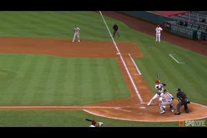 【MLB】5回裏 大谷の第3打席は鋭い当たりのヒット 8/12 エンゼルスvs.アスレチックス
