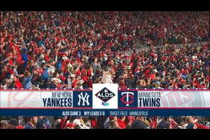 【MLB】試合ダイジェスト 10/8 ツインズvs.ヤンキース