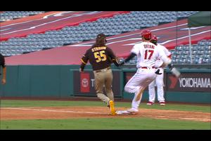 【スポーツナビMLB】エンゼルスの大谷は7回裏の第3打席、快足を飛ばして内野安打を記録した。
