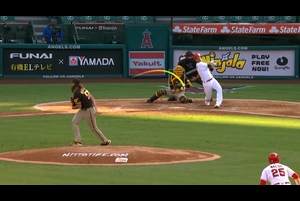 【MLB】3回裏 シモンズの先制タイムリーヒット 9/4 エンゼルスvs.パドレス