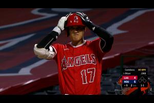 【スポーツナビMLB】<br /> エンゼルスの大谷翔平はアストロズとのダブルヘッダー第2試合の6回に代打で出場し、空振り三振に倒れた。