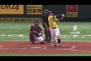【3回裏】ホークス・甲斐 高めの直球を捉えて先制アーチ! 2020/9/20 H-E