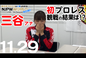 三谷アナ‼️大興奮‼️初プロレス観戦を振り返る❗️ NJPWWORLD NOW!