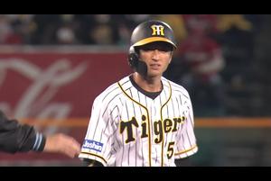 近本 変化球をとらえてチーム初ヒット!!