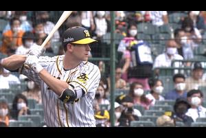 ガンケル NPB初ヒットは左中間を破る二塁打!!