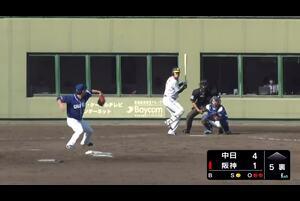 10月13日に阪神鳴尾浜球場で行われた阪神タイガース対中日ドラゴンズの一戦に出場した福留孝介選手がセンター前にヒットを放った!