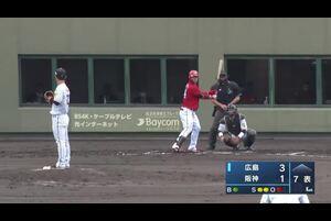 4月18日(日)、阪神鳴尾浜球場で行われた阪神タイガース対広島東洋カープの一戦で、6回表から阪神・伊藤将司投手が調整登板し、2回2奪三振無失点の成績を残した。