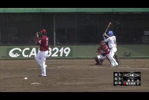【イースタン・リーグ】完璧にとらえたあたり!西武・木村選手のソロホームラン!!