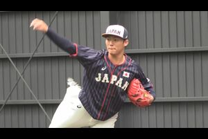 『ENEOS 侍ジャパンシリーズ 2019「日本 vs カナダ」』(10月31日、11月1日)とプレミア12(11月2日開幕)に向けた侍ジャパントップチームの宮崎合宿2日目、投手陣がそろってブルペンに入り、熱のこもった投球を見せた。
