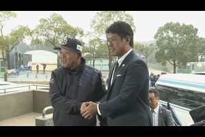侍ジャパン稲葉監督キャンプ視察最終日 バファローズを訪問