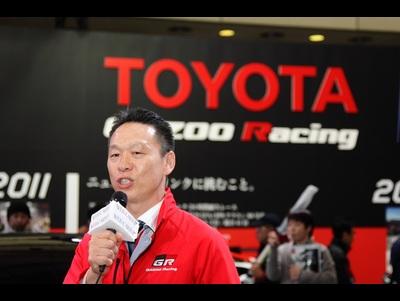 東京オートサロン2016の会場でトヨタCH-Rレーシングを公開